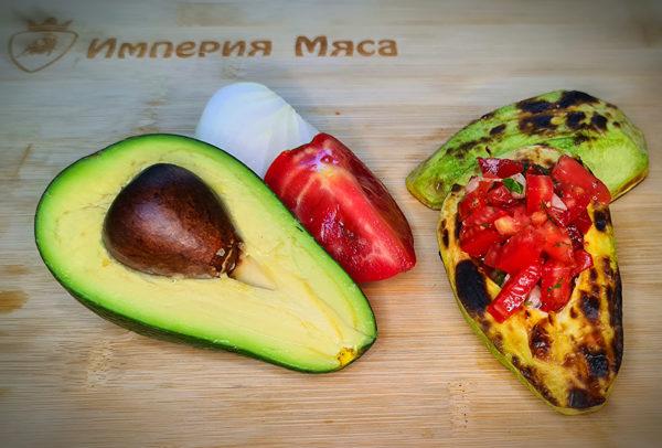 авокадо на мангале